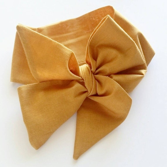 Head wrap { Gold } baby headbands - newborn hair bows - baby girl clothing