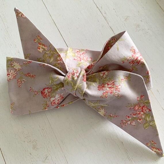 Head wrap bow {Lavender Rose} newborn headbands - baby hair bows