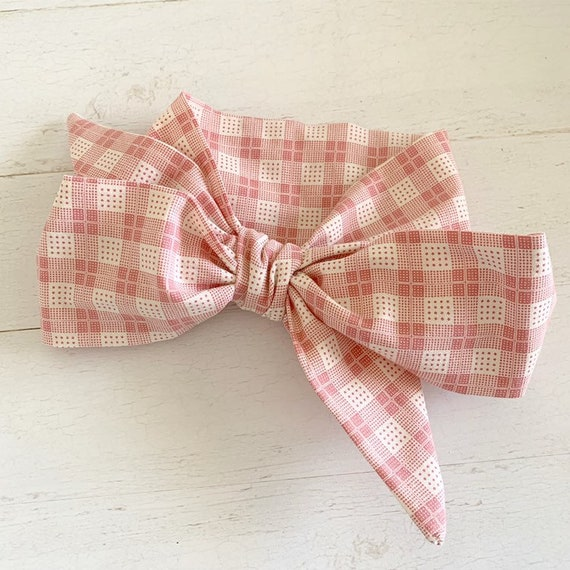 Headwrap bow- big bows- baby girl headbands- newborn headband {Claira}