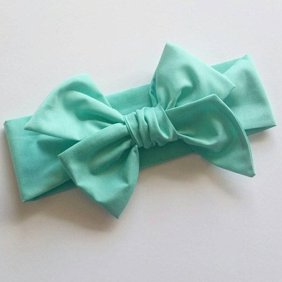 Head wrap {Mint} baby hair bows, turbans, baby shower gifts, newborn photography