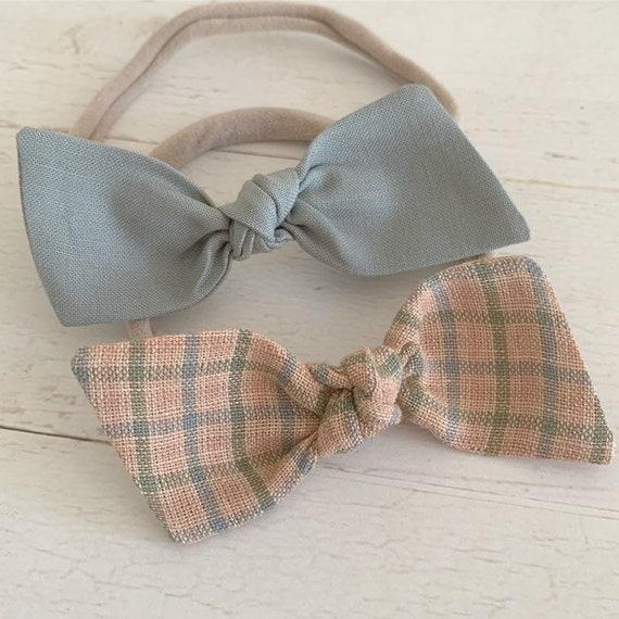 Baby headbands set, baby hair bows - nylon headbands - hair clips - hair accessories {Erin}