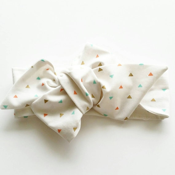 Little girl headbands {Mini Triangles} baby bows, hair accessories