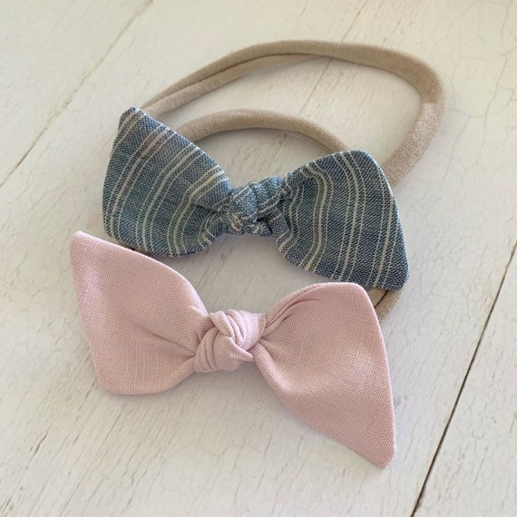 Baby headbands- newborn headbands- baby bows- hair clips {Emi}