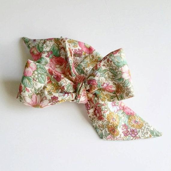 Head wrap bow- baby headbands- fabric hair bows {Elizabeth}