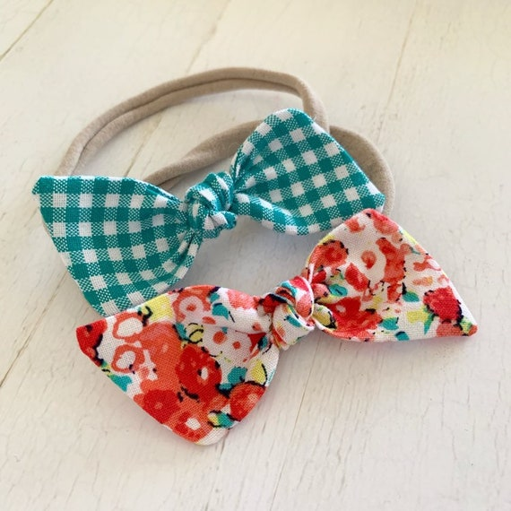 Baby bow headband set {Spring} newborn headbands, baby gifts