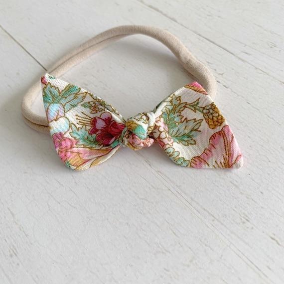 Baby bow headband {Stacie} newborn headbands, baby hair bows