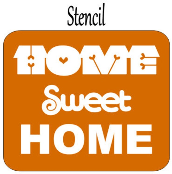 Adhesive Word Stencil, Home Sweet Home Sign, Stencils For Painting, Word  Art, Fall Home Decor Signs, DIY Kit, Painted Word Sign