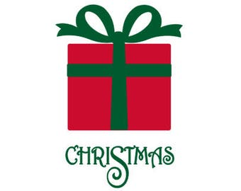 Iron On Christmas Present, Fabric Applique, Christmas Applique Design, DIY Iron On Christmas Kit for T Shirts, Bags, Pillows & More
