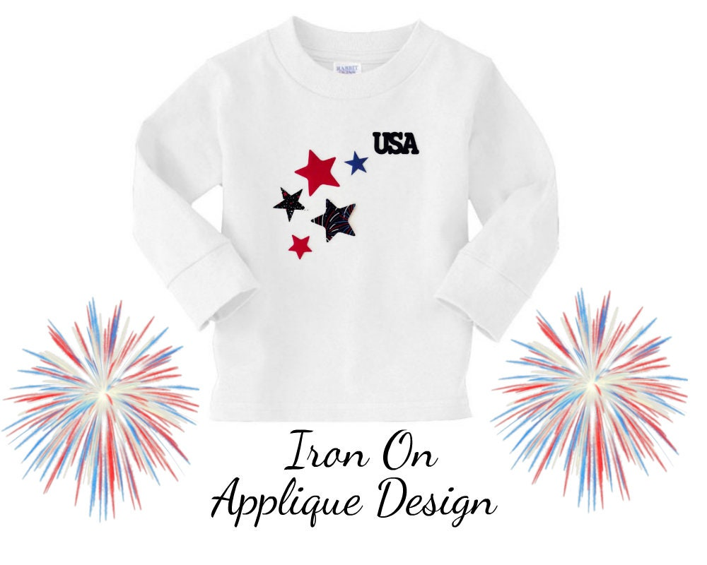 Diy Craft Kit Iron On Applique Design For T Shirts And Home Etsy