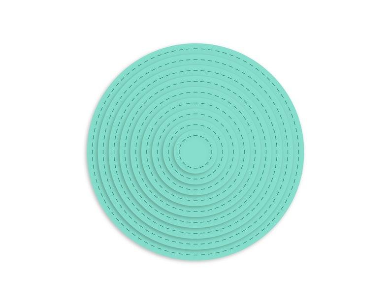 Nested Stitched Circles  SVG  Digital Download image 0
