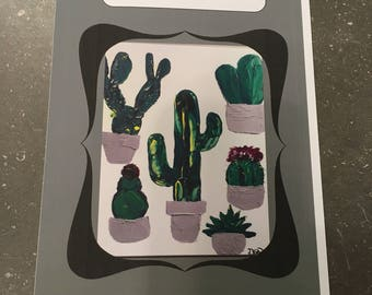 """Greeting card """"in life, there are cacti"""" - blank"""