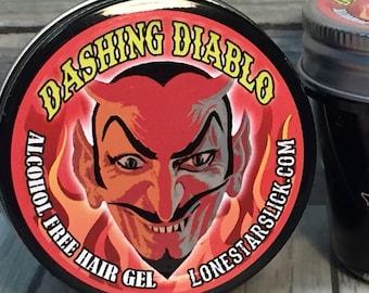 DASHING DIABLO Styling Molding Non Flaking Hardening Matte Style Alcohol Free Hair Gel Dixie Cowboy 6oz Men's Women's Pomade