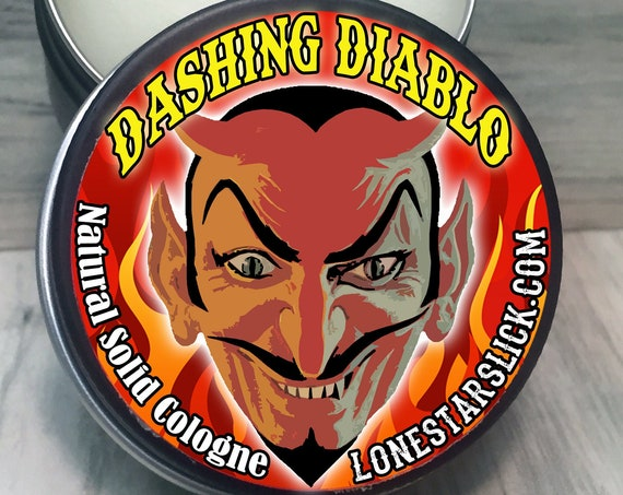 DASHING DIABLO Natural Solid COLOGNE & Perfume Lone Star Slick Dixie Cowboy 1oz Men's and Women's Scents Fragrance Available