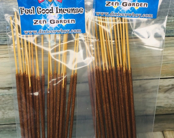 USA Made Zen Garden Temple Meditation Floral INCENSE STICKS 20 pack Hand Dipped and Scented by Moonbeams & Starlight Dixie Cowboy