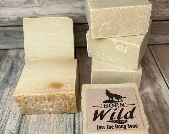 Just the Dang Soap Fragrance Free OLIVE OIL Born Wild Soap Co. Bar Herbal Essential Oils All Natural Organic Ingredients 5 oz Dixie Cowboy