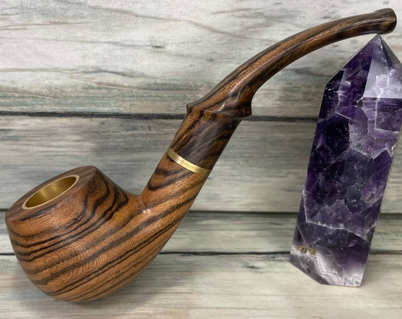USA Made Exotic WENGE Swirl Wood PIPE Free Shipping Tobacco Smoking Pipe Men's & Women's Carved Wood Handcrafted Dixie Cowboy J03