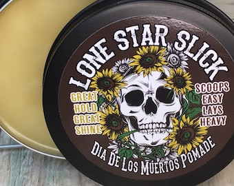 All New Recipe Dia De Los Muertos Limited Edition 5oz Day of the Dead Halloween Oil Based Hair Pomade Wax Grease Lone Star Slick
