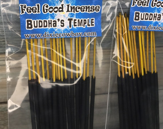 USA Made Buddha's Temple Buddha Nag Champa White Sage INCENSE STICKS 20 pack Hand Dipped and Scented by Moonbeams & Starlight Dixie Cowboy