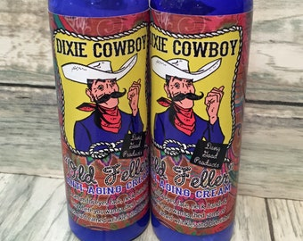 OLD FELLER Anti Aging Cream 4oz & 8oz Natural Organic Moisturizing Lotion Dixie Cowboy face body hand wrinkle serum balm salve neck Men's