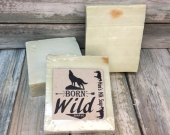 MARE'S Milk & OLIVE OIL Soap Horse Mare Born Wild Soap Co. Bar Herbal Essential Oils All Natural Organic Ingredients 4.5 oz Dixie Cowboy