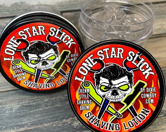 All New SHAVING GEL Balm Gliding Razor Cream Sensitive Skin Non-Irritating Lotion Shave Men's Women's Lone Star Slick Dixie Cowboy lube