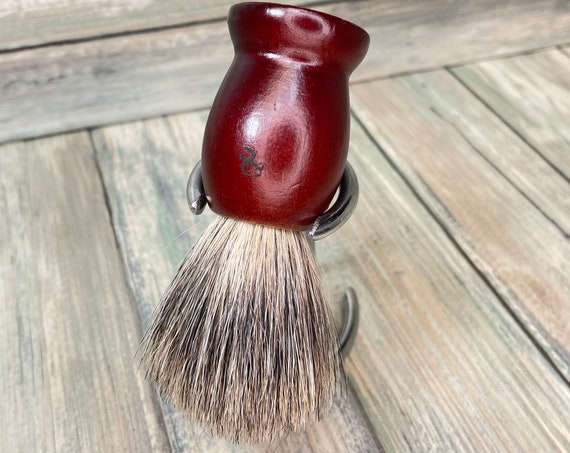 USA Made Reclaimed Wood & REAL Silvertip BADGER Hair Shaving Lather Shave Brush Soap Men's Women's Dixie Cowboy