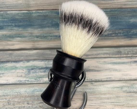 USA Made Ebonywood Black Wood & Texas Boar Hair Shaving Brush Lather Shave Soap Dixie Cowboy