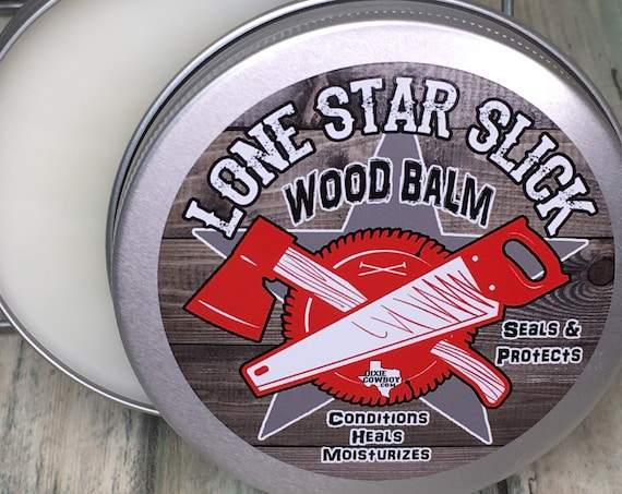 All Natural & Organic WOOD BALM Moisturizer Conditioning Salve Oil Butter Wax Treatment 4oz Butter Polish Conditioner Heals Protects Seals