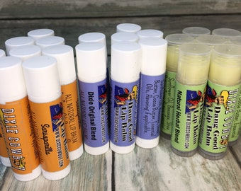 Natural and Organic Dang Good Lip Balm Multiple Flavors Essential Oil Salve Repair Ointment Dixie Cowboy SHIPS FOR 1 CENT w/ any order