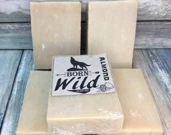 ALMOND & OLIVE OIL Soap - Born Wild Soap Co. - Bar Herbal Essential Oils All Natural and Organic Ingredients 3.5 oz Dixie Cowboy