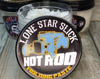 Lone Star Slick Hot Rod Molding Paste Water Based Pomade Styling Putty Gel Hair Grease 4oz Rockabilly Wax Washes Out Dixie Cowboy