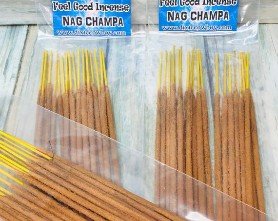 USA Made Nag Champa Handmade INCENSE STICKS 20 pack Hand Rolled and Scented by Moonbeams & Starlight Dixie Cowboy