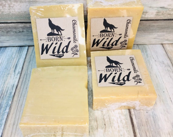 CHAMOMILE & OLIVE OIL Soap - Born Wild Soap Co. - Bar Herbal Essential Oils All Natural and Organic Ingredients 4.5 oz Dixie Cowboy