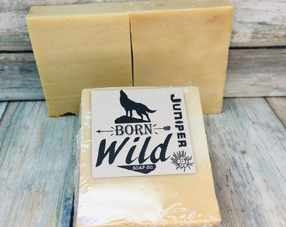 JUNIPER & OLIVE OIL Soap - Born Wild Soap Co. - Bar Herbal Essential Oils All Natural and Organic Ingredients 4.5 oz Dixie Cowboy