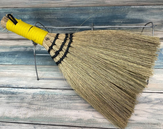 """USA Made Handmade SILVERGRASS Miscanthus Bamboo Whisk Car Table 10"""" Broom Corner Hand Brush Cleaning Kitchen Eco Friendly Dixie Cowboy"""