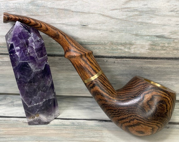 USA Made Exotic WENGE Swirl Wood PIPE Free Shipping Tobacco Smoking Pipe Men's & Women's Carved Wood Handcrafted Dixie Cowboy J23