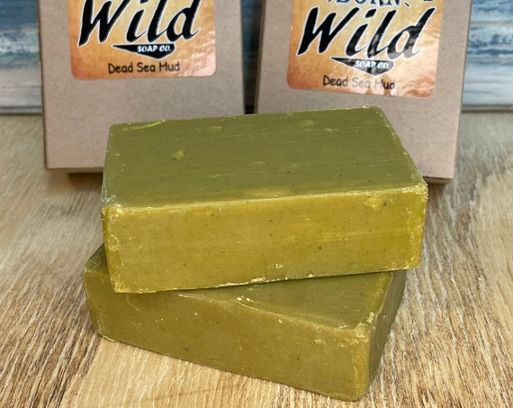 DEAD SEA MUD Clay Spa Series Ayurvedic Soap Born Wild Bar Herbal Essential Oils All Natural and Organic Ingredients 3.5 oz Dixie Cowboy