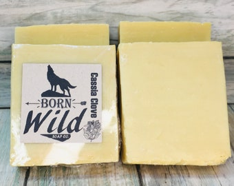 CASSIA CLOVE & OLIVE Oil Soap - Born Wild Soap Co. - Bar Herbal Essential Oils All Natural and Organic Ingredients 4.5 oz Dixie Cowboy