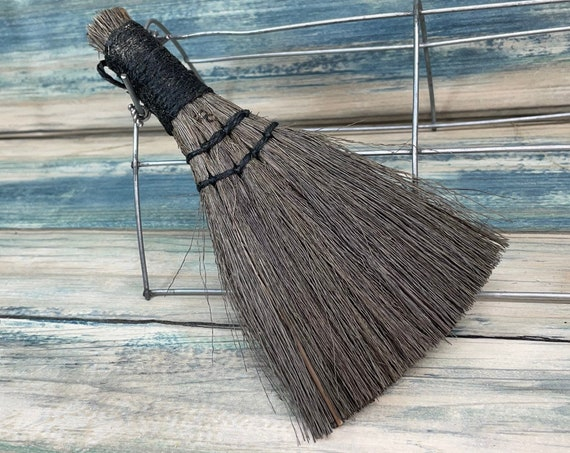 """USA Made Handmade SILVERGRASS Miscanthus Bamboo Whisk Car Table 6.5"""" Broom Corner Hand Brush Cleaning Kitchen Eco Friendly Dixie Cowboy"""