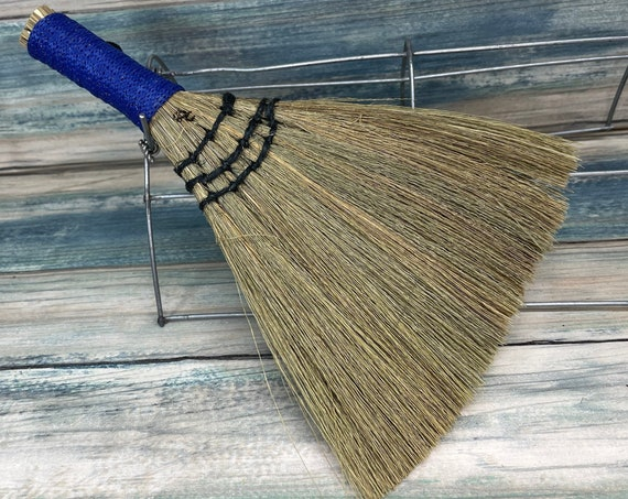 """USA Made Handmade SILVERGRASS Miscanthus Bamboo Whisk Car Table 8"""" Broom Corner Hand Brush Cleaning Kitchen Eco Friendly Dixie Cowboy"""