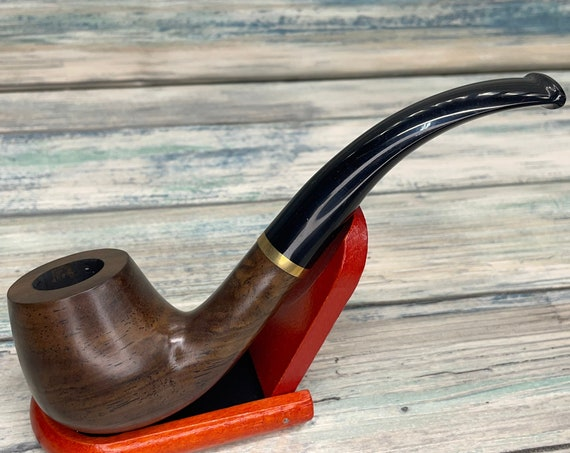USA Made PEAR Fruit Wood PIPE Set Tobacco Smoking Pipe Men's & Women's Carved Wood Handcrafted Dixie Cowboy P8