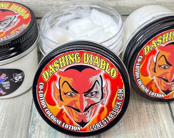 Dashing Diablo COLOTION Cologne LOTION 4oz Perfume Aromatic Body Skin Men's Women's All Natural & Organic Lone Star Slick Dixie Cowboy