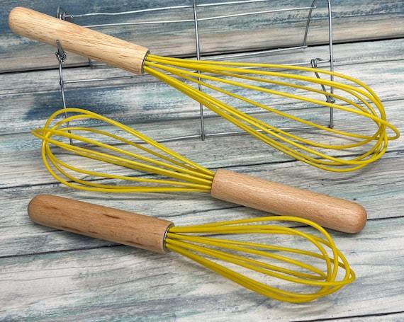 USA Made 3 Piece WHISK Set BEECHWOOD Beech Wood Handmade Kitchen UTensils Set Stirrers Cooking Baking Swerving Dixie Cowboy