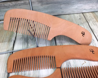 """USA Made Reclaimed Dark Raw Wood Perfect Pocket Beard or Mustache Comb 6"""" Finish Styling Dressing Hair Dixie Cowboy V11"""