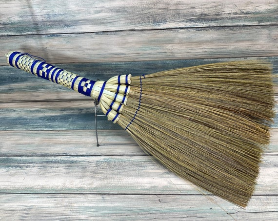 """USA Made Handmade SILVERGRASS Miscanthus Bamboo Whisk Car Garage 16"""" Broom Corner Hand Brush Cleaning Kitchen Eco Friendly Dixie Cowboy"""