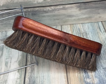 "Rustic Reclaimed Wood 100% HORSE Hair Soft Bristle Mini 6"" Wood Paddle Military Brush Perfect for Baby Beard & Fine Hair horsehair j19"