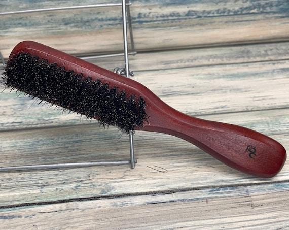 USA Made Red Reclaimed Wood BOAR Hair Wood Handle Beard Brush Bristle Thick Medium BEARDS Mustache Dixie Cowboy