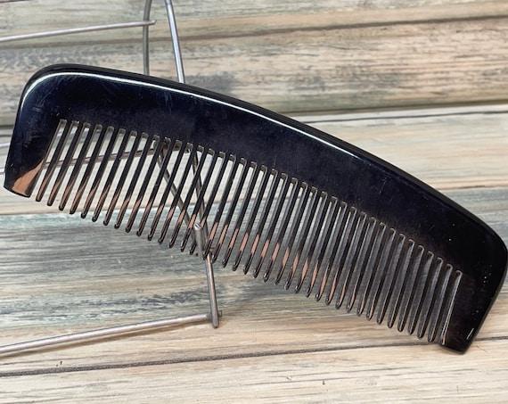 """USA Made BUFFALO Ox HORN Hand Curved Comb 6"""" Medium Wide Tooth Detangler Detangling Wet Dry PockEt Hair Dixie Cowboy Beard Hand B31"""