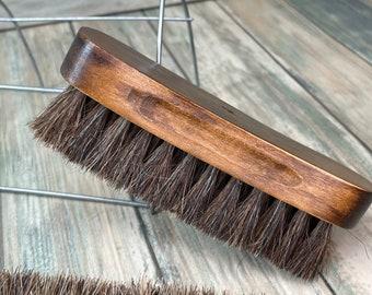 "USA Made Natural BOAR Hair Wood Beard Bristle Super Soft Brush BEARDS & Body Brush Short Hair 5"" Palm Military Dixie Cowboy"