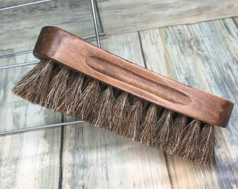 "USA Made Natural BOAR Hair Wood Beard Bristle Super Soft Brush BEARDS & Body Brush Short Hair 5"" Palm Military Dixie Cowboy TT2"